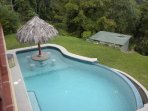 Enjoy a relaxing swim surrounded by 360 degree views of ocean and rainforest.