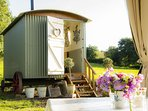 Bathsheba, our shepherd's hut, provides a glamping holiday in Devon with a personal touch.