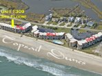 Aerial Photo of 1309 Topsail Dunes