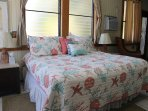 Comfortable king size bed in Master