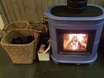 Wood and peat burning stove