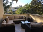 A lovely terrace with great comfortable outdoor furniture