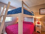 The Queen-over-Queen bunk beds are perfect for additional group couples and children.