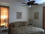 New ceiling fan added 2016 and winter weight bedspread for our snowbirds.