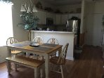 Dining table with seating for 6 adults.