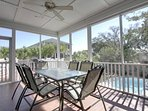 Screen Porch Overlooking Swimming Pool