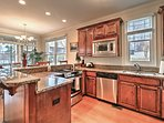 This fully equipped kitchen can handle all of your cooking needs.