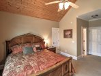 You'll love waking up feeling refreshed in the master bedroom's king bed.