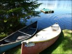 Private Canoe for You To Explore the Lake