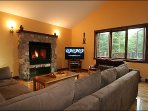 Lovely Living Area with Wood Burning Fireplace