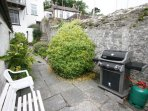 Walled garden and barbecue