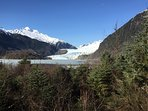Mendenhall Glacier from the visitors parking area
