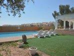 Garden, pool & veranda