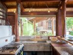 Create dinner in the amazing kitchen area