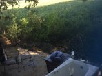 Soak in you outdoor jet tub and feel the country breezes blowing over 80 acres of farmland