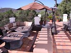Ranch Patio with Fire Pits and seating for 30 Plus. Stunning Panoramic Views