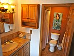 A look at the master bathroom