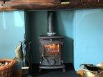 Roaring AGA Logburner and Multifuel Stove