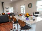 Bank House is newly renovated with open plan living and high ceilings.