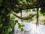Even the hammock overlooks the valley