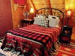 Upstairs queen bed in master