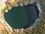 Dragons eye, famous lake in Rogoznica
