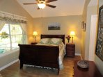 Large master bedroom suite with queen size bed