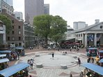 Faneuil Hall. across the North End.  Walking distance to our place
