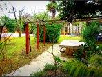Garden with picnic area