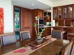 Elegant Dining Table and Kitchen