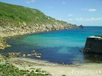 Have an early morning swim in Lamorna Cove - only 5 minutes walk from your Studio