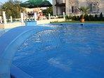 swimming pool, massage option.