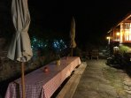 evening on the patio with seating for over 12,