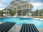 Large private pool and Spa with Lanai and Gazebo.