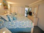 3D Master bedroom with queen and full beds.