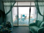 3D looking out to the ocean front balcony