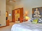 The main master bedroom is complete with a plush, king-sized mattress, its own private balcony and a charming full...