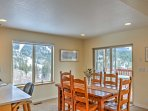 Enjoy your homemade meals gathered around the dining room table with friends and family.