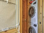 In-unit laundry machines ensure your travel clothes stay fresh and clean!