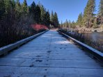Deschutes River Trail Footbridge during morning walk!