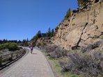 Deschutes River Trail pathway to Old Mill District.  Great for Walking for Biking!