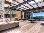 Outstanding clubhouse with outdoor seating for events
