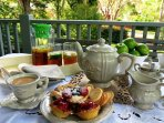 High Tea on the verandah