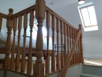 Upper level bedroom banister