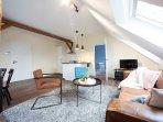 Wohnzimmer Ferienwohnung Ludgerushof Bocholt