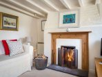 Relax in front of the fabulous roaring fire!