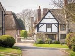 The cottage is in the village of Halford, and is accessed from a peaceful lane