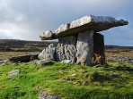 Burren dolmen, beautiful burren only 15 minutes away.