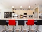 oversized kitchen island with additional seating