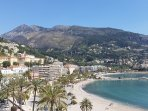 View of the hills behind Menton from the apartment
